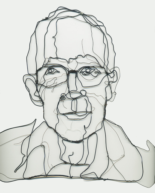 Contour Line Drawing With Wire : Line wire self portrait artsy bitsy